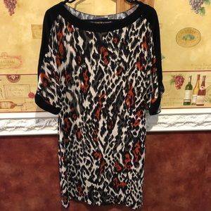 Tahari animal print dress size M